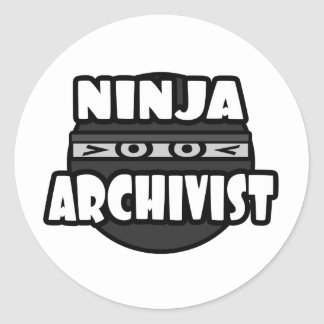 Ninja Archivist Round Stickers