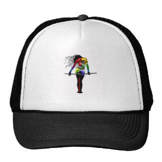 Ninja Asassin Woman Tattooed Kiss of Death Trucker Hat