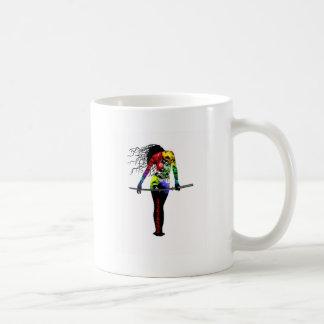 Ninja Asassin Woman Tattooed Kiss of Death Mugs