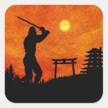 Ninja Attack Square Sticker