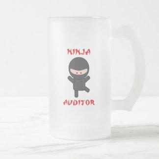 ninja auditor frosted glass beer mug