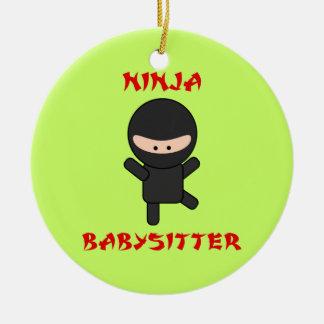 Ninja Babysitter Ceramic Ornament