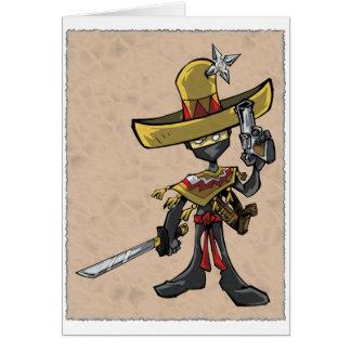 Ninja Bandito Note Card