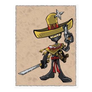 Ninja Bandito Postcard