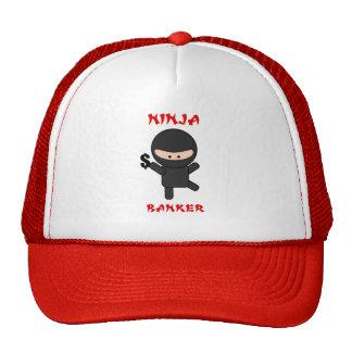 ninja banker with dollar trucker hat