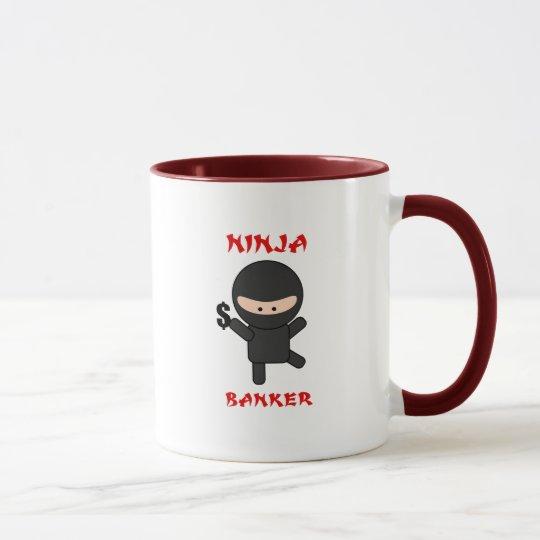 ninja banker with dollar mug