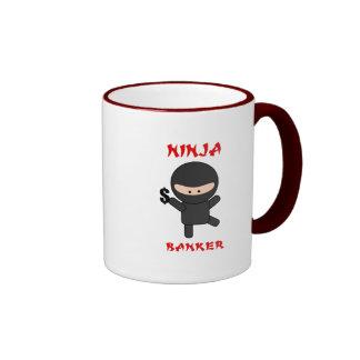 ninja banker with dollar mugs