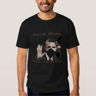 Ninja Barack for Dark apparel T-shirt
