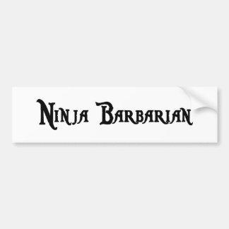 Ninja Barbarian Bumper Sticker