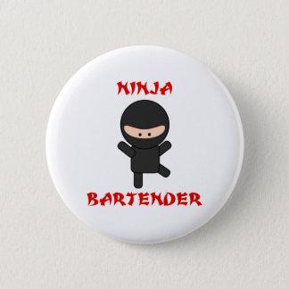 Ninja Bartender Plain Button