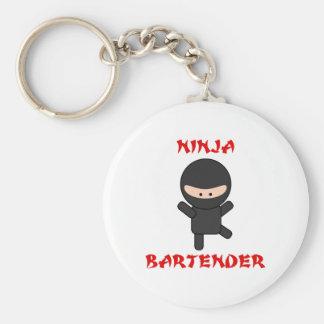 Ninja Bartender Plain Keychain