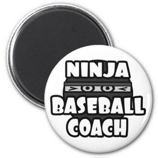 Ninja Baseball Coach Fridge Magnet
