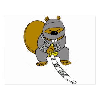 Ninja Beaver Postcards