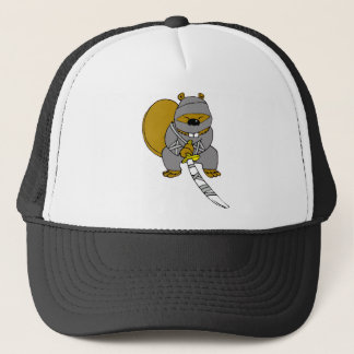 Ninja Beaver Trucker Hat