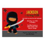 "Ninja Birthday Party 5"" X 7"" Invitation Card"
