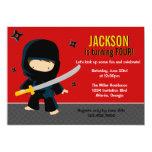Ninja Birthday Party Card