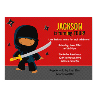 Ninja Birthday Party Personalized Invites