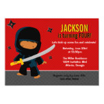 Ninja Birthday Party Personalized Invites