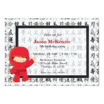 Ninja birthday theme custom invitations