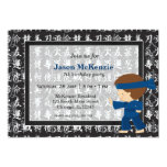 Ninja birthday theme custom invite