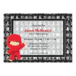 Ninja birthday theme invite