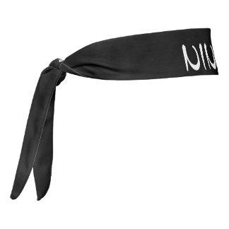 Ninja Black and White Tie Headband