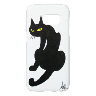NINJA BLACK CAT White Samsung Galaxy S7 Case