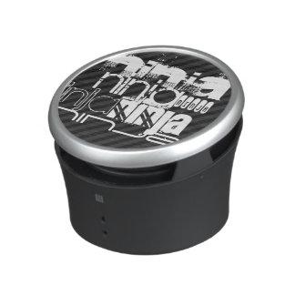 Ninja; Black & Dark Gray Stripes Bluetooth Speaker
