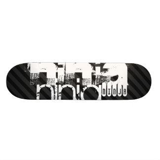Ninja; Black & Dark Gray Stripes Skateboard