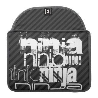 Ninja; Black & Dark Gray Stripes Sleeve For MacBooks
