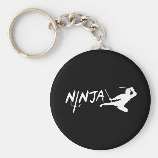 Ninja Black Keychain