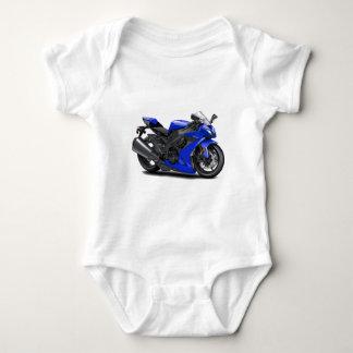 Ninja Blue Bike Baby Bodysuit