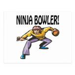 Ninja Bowler Postcard