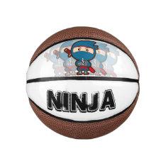 Ninja Boy Basketball at Zazzle