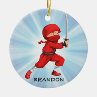 Ninja Boy  Design Ornament
