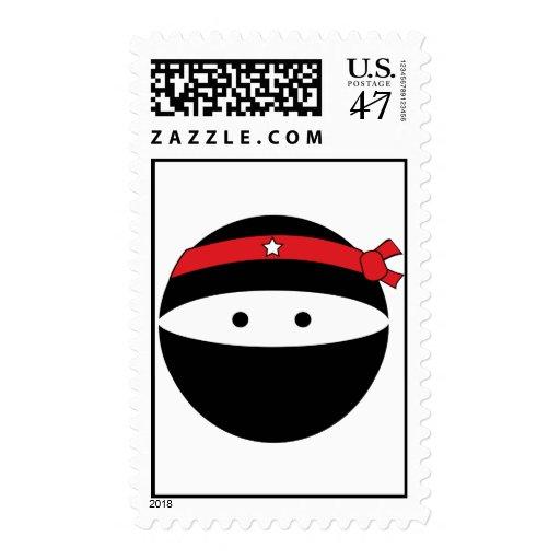 Ninja Boy Postage Stamp