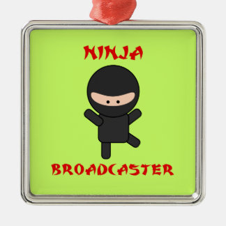 Ninja Broadcaster Metal Ornament