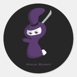 Ninja Bunny Classic Round Sticker