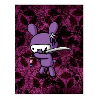 Ninja Bunny Postcard