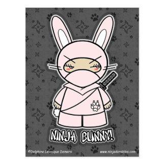 Ninja Bunny! Postcard