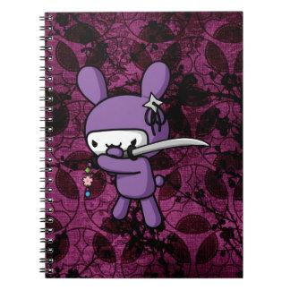 Ninja Bunny Spiral Note Book
