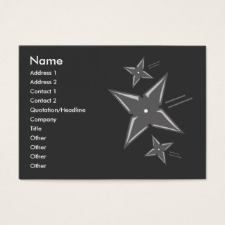 Ninja star business cards templates zazzle ninja business cards reheart Choice Image