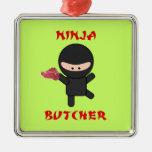 Ninja Butcher with Meat Christmas Ornament