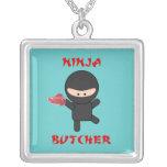 Ninja Butcher with Meat Custom Necklace