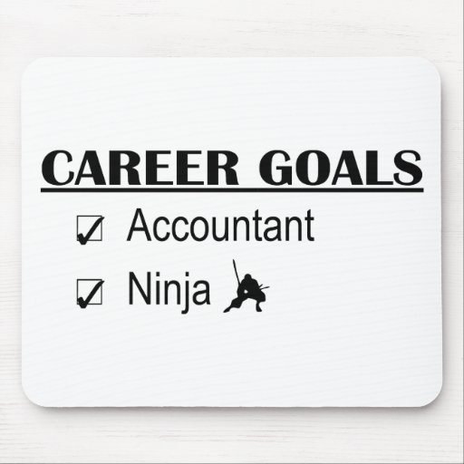 Ninja Career Goals - Accountant Mouse Pad