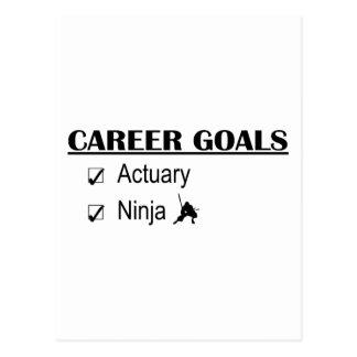 Ninja Career Goals - Actuary Postcard