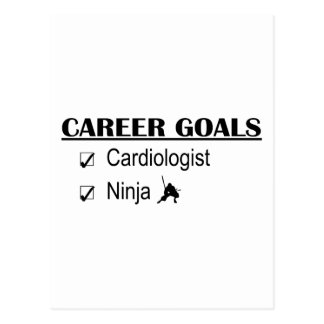 Ninja Career Goals - Cardiologist Postcard