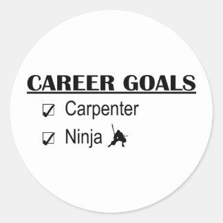 Ninja Career Goals - Carpenter Classic Round Sticker
