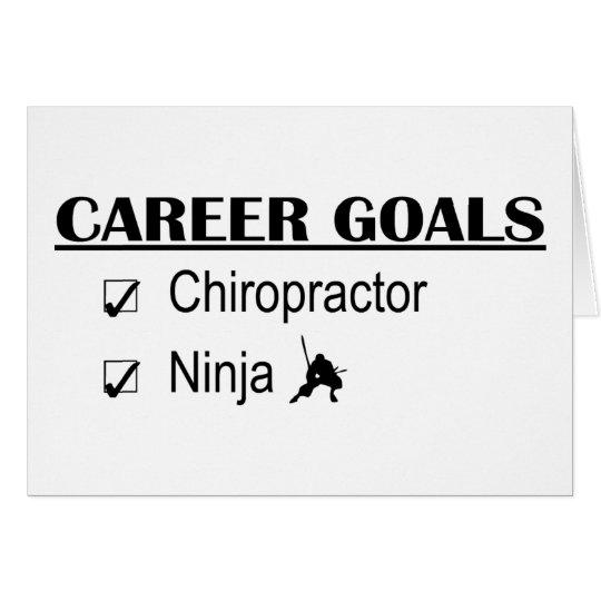 Ninja Career Goals - Chiropractor Card
