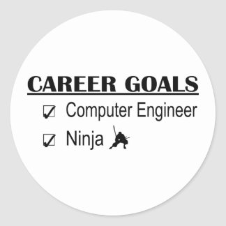 Ninja Career Goals - Computer Engineer Classic Round Sticker